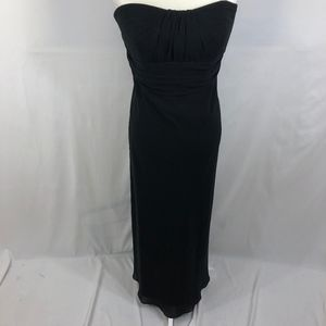 David's Bridal Strapless Black Gown Size 14